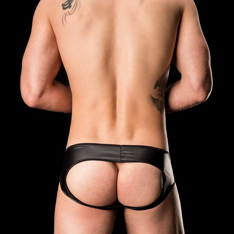 BARCODE Berlin BRIEF WET club Laboratory backless 91110 kinky black