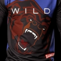 BARCODE Berlin SWEATSHIRT grizzly bear WILD 91079 shiny blue