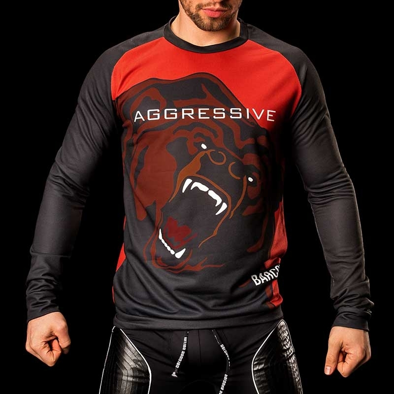 BARCODE Berlin SWEATSHIRT grizzly bear AGGRESSIVE 91079 shiny red