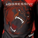 BARCODE Berlin SWEATSHIRT grizzly bear AGGRESSIV 91079 shiny red
