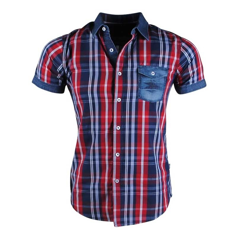 CARISMA CHECK SHIRT CRSM9066 short sleeve denim