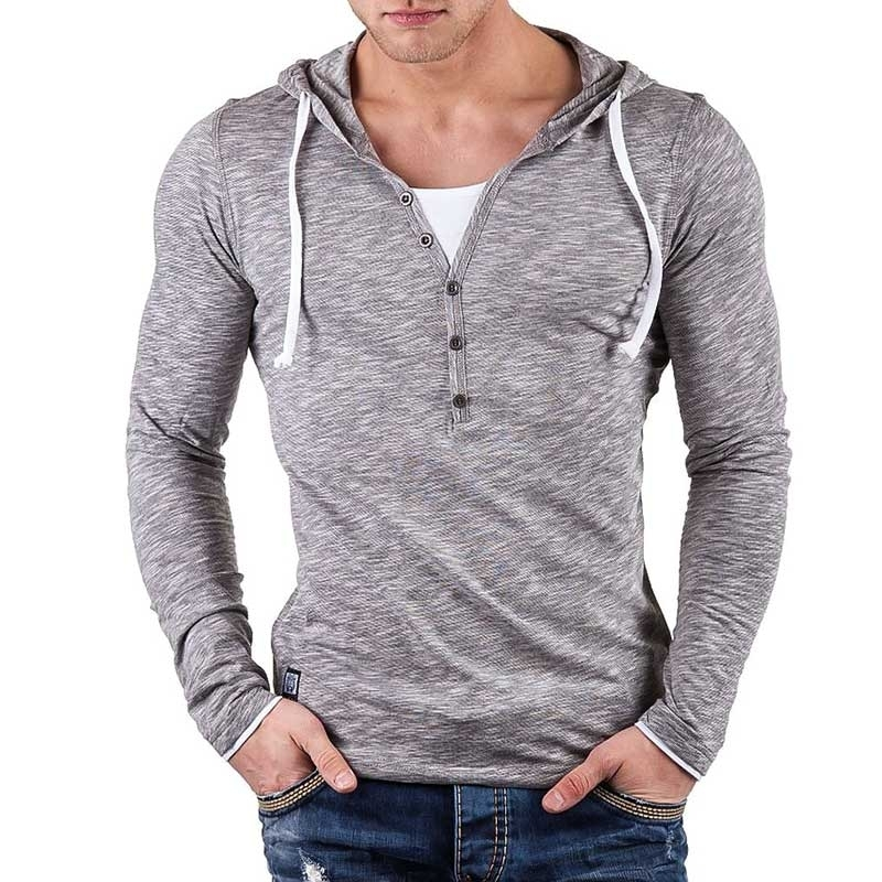 CARISMA SWEATSHIRT sommer HOODIE light CRSM 3072 bodystyle grey