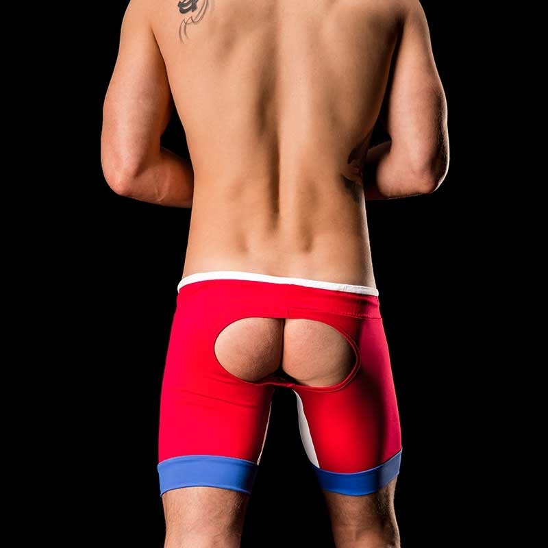 BARCODE Berlin SHORTS Biker backless MIGUEL 91108 sport Pants red