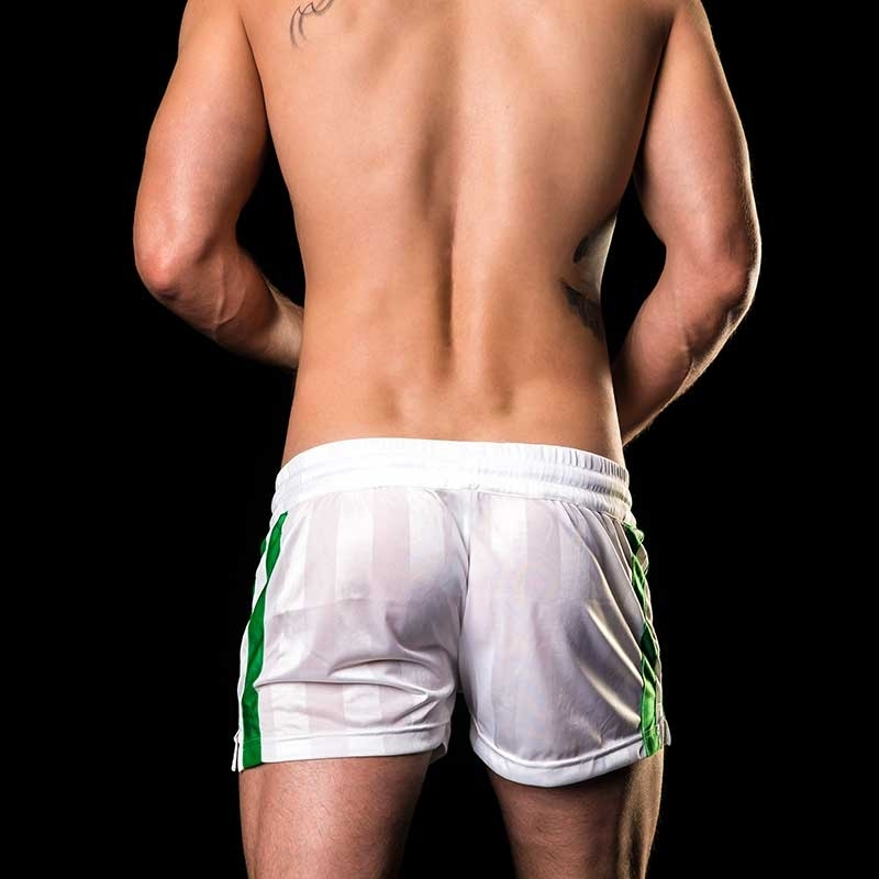 BARCODE Berlin SHORTS Fitness Soccer MESUT 91029 shiny white-green