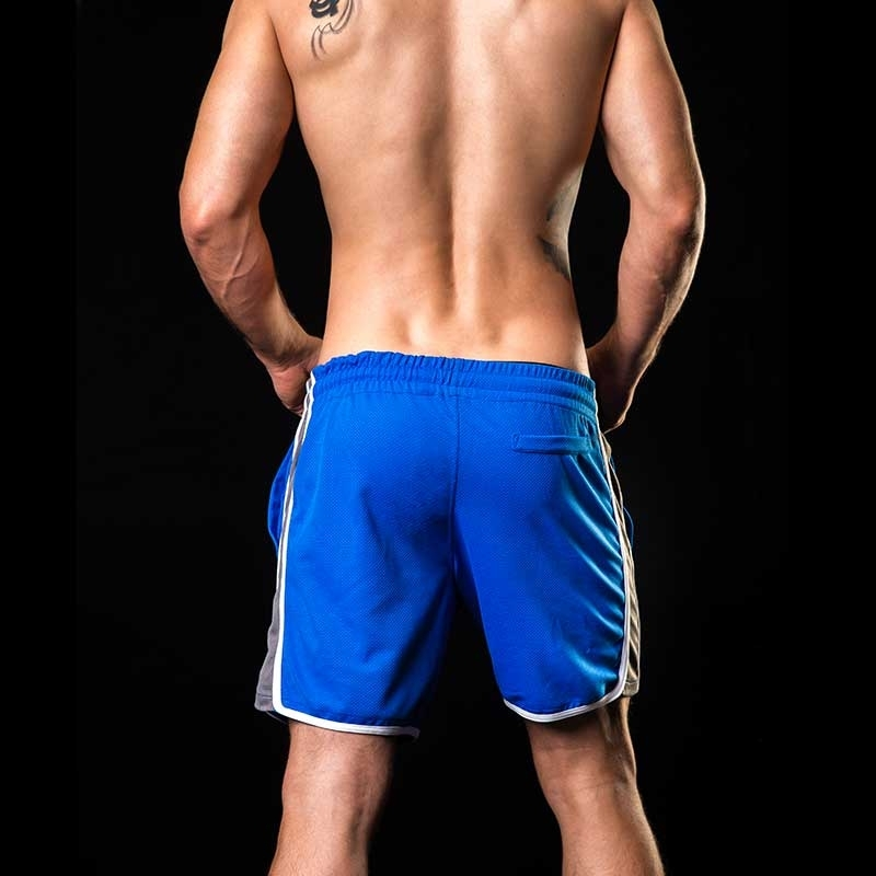 BARCODE Berlin SHORT casual KAYDEN gym 91142 fitness bi-color blue