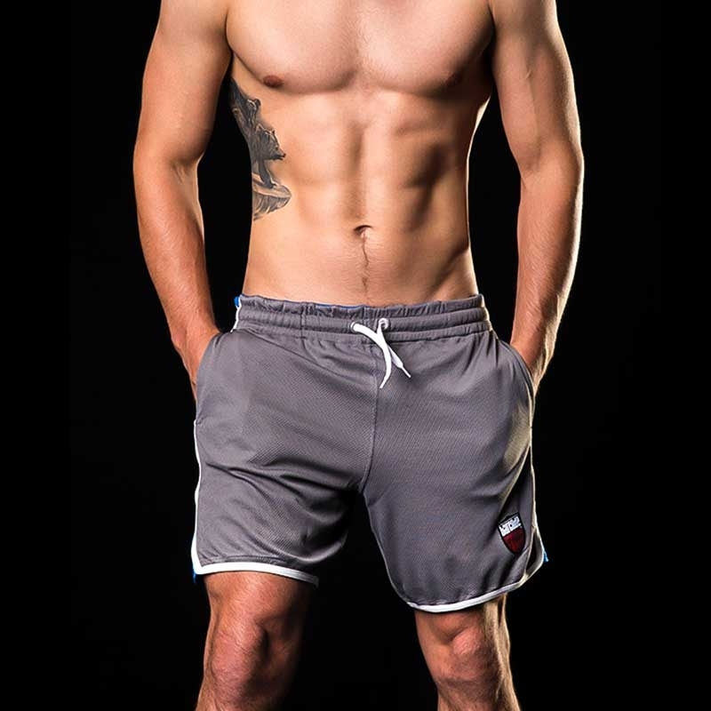 BARCODE Berlin SHORT casual KAYDEN gym 91142 fitness bi-color grey