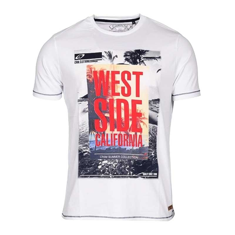 CARISMA T-SHIRT regular California WEST Premium 4312 Palmbeach white