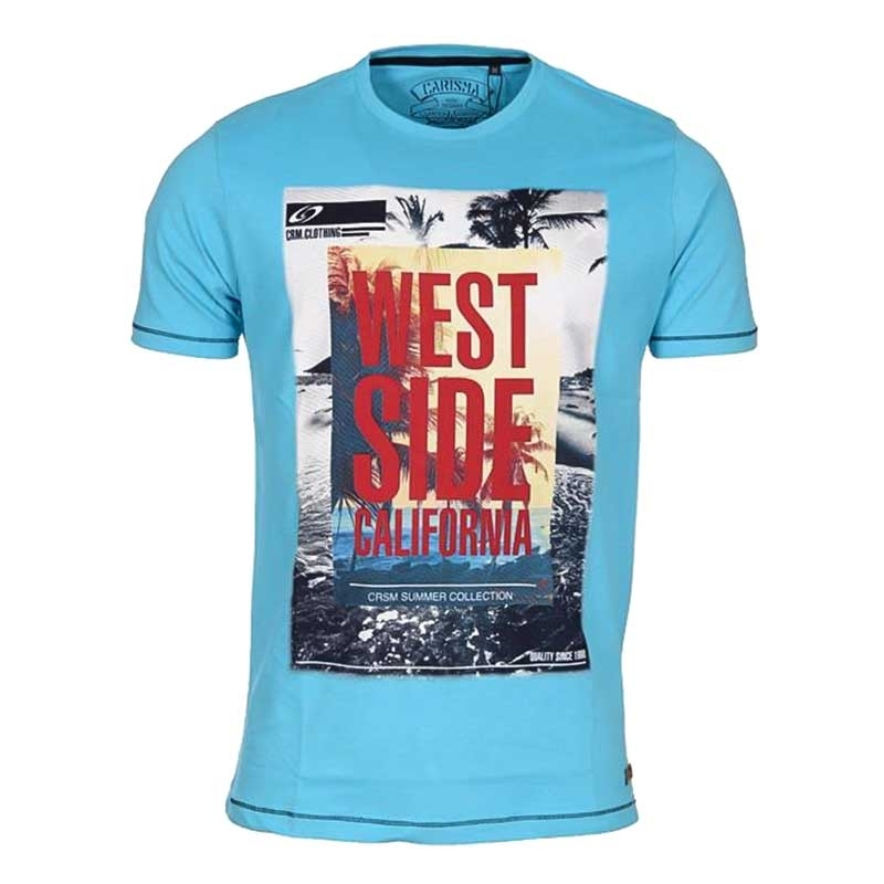 CARISMA T-SHIRT regular California WEST Premium 4312 Palmbeach turkis