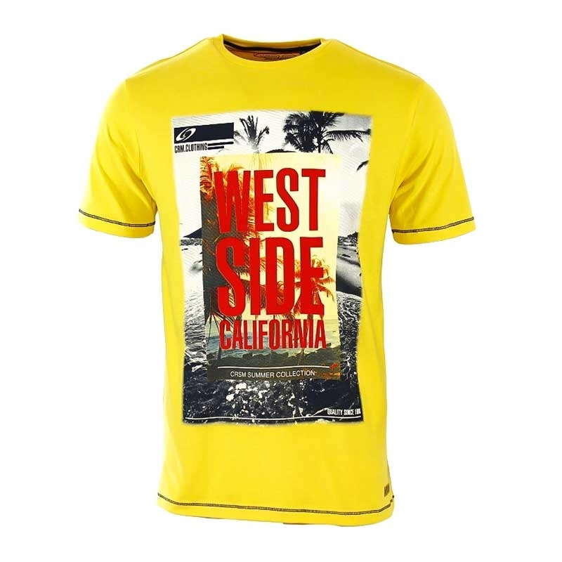CARISMA T-SHIRT regular California WEST Premium 4312 Palmbeach yellow