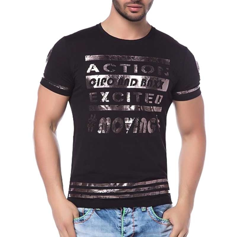 CIPO and BAXX T-SHIRT action EXCITED slim Fit CT114 shiny movie black
