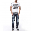 CIPO and BAXX T-SHIRT CT114 Wet-Look Streifen