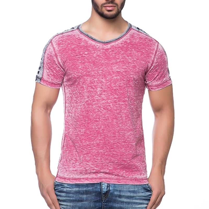 CIPO and BAXX T-SHIRT uni HOCKY slim Fit CT115 used look pink