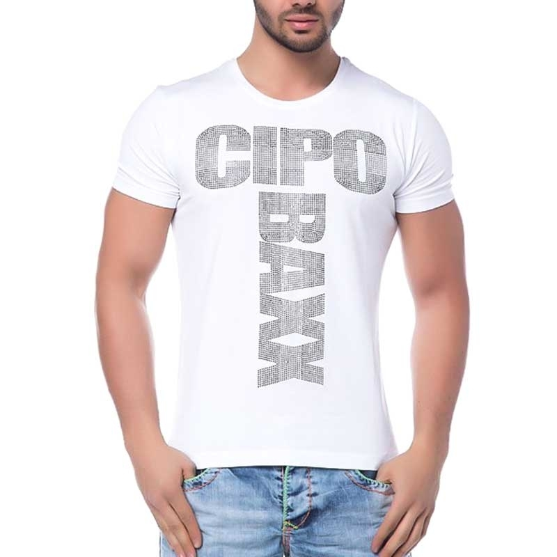 CIPO and BAXX T-SHIRT shiny PRODUCER slim Fit CT122 bodystyle white