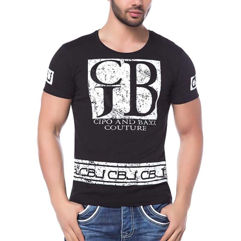 CIPO and BAXX T-SHIRT made SCREEN slim Fit CT130 CBJ black