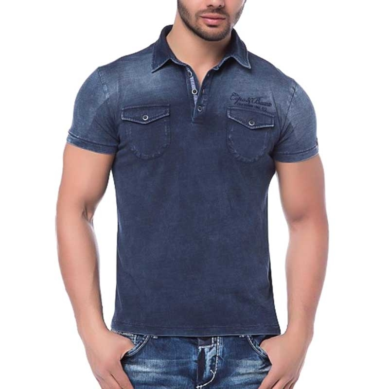 CIPO and BAXX PoloSHIRT CT147 Used Denim