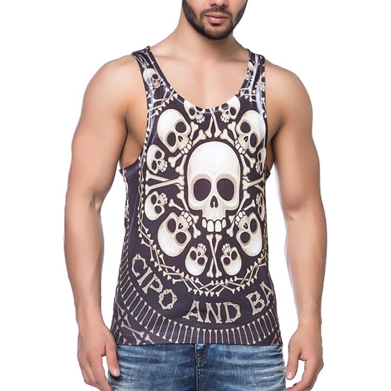 CIPO and BAXX TANK Top CT158 skull motif