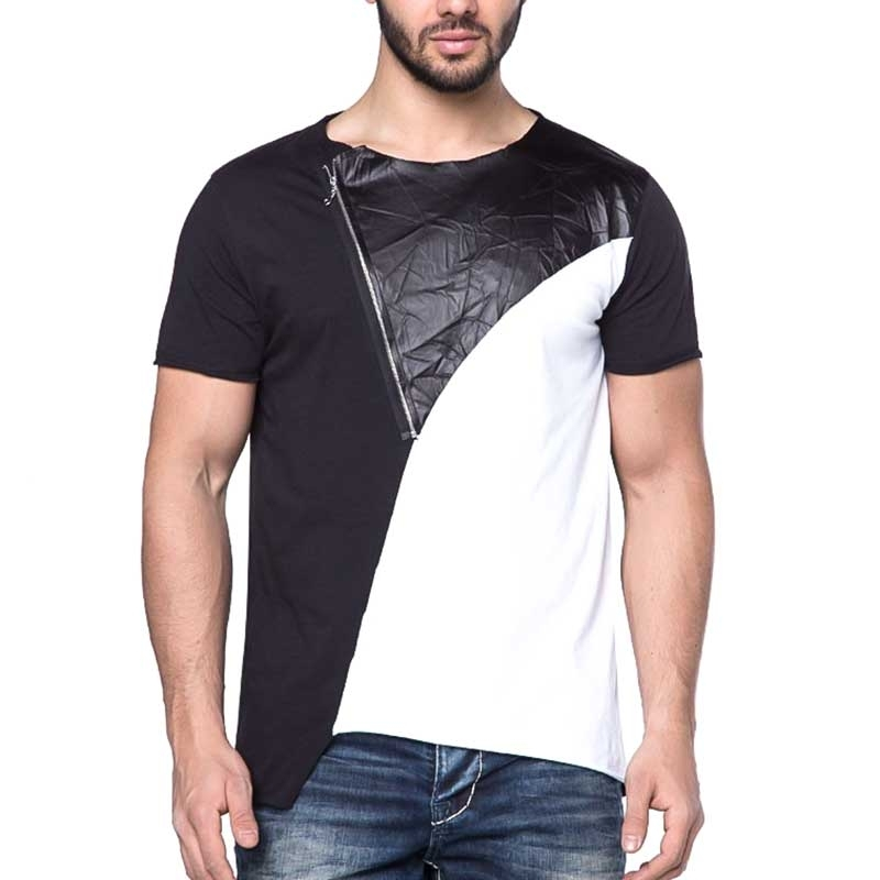 CIPO and BAXX T-SHIRT wet-zip VIMOS CBJ casual CT165 langshirt black