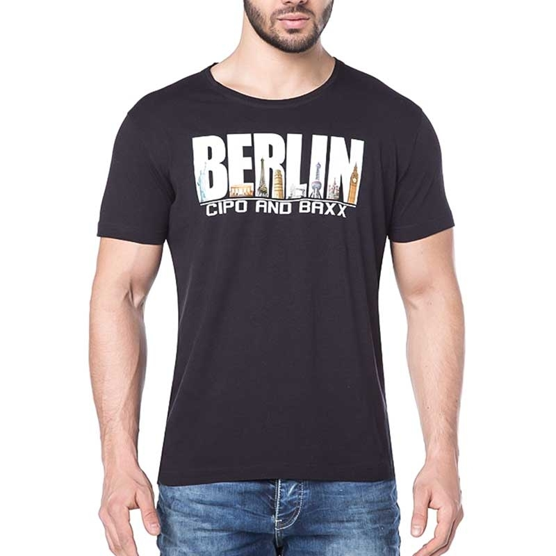 CIPO and BAXX T-SHIRT city BERLIN regular CT166 township black