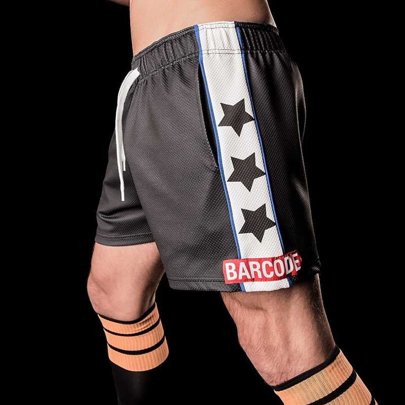 BARCODE Berlin SHORT star VENELIN gym 91102 fitness wabe black