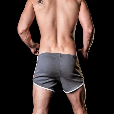 BARCODE Berlin SHORTS relax lounge ALPHA low 91104 soft line grey