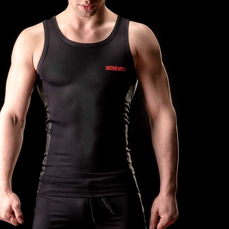 BARCODE Berlin TANK Top WETclub FILIPE 90808 body blackstyle