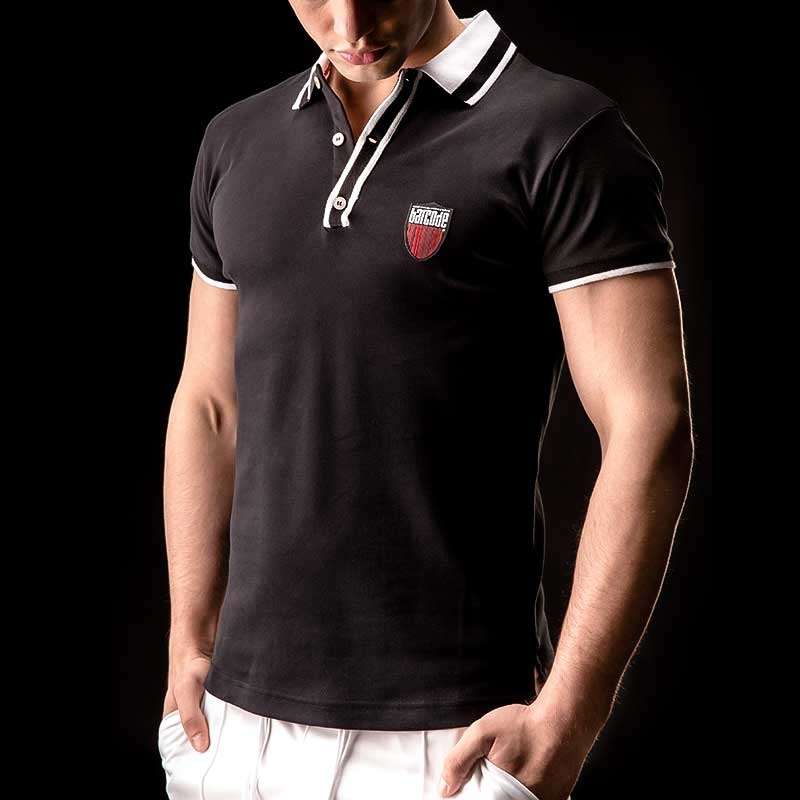 BARCODE Berlin Polo T-Shirt Pascal black