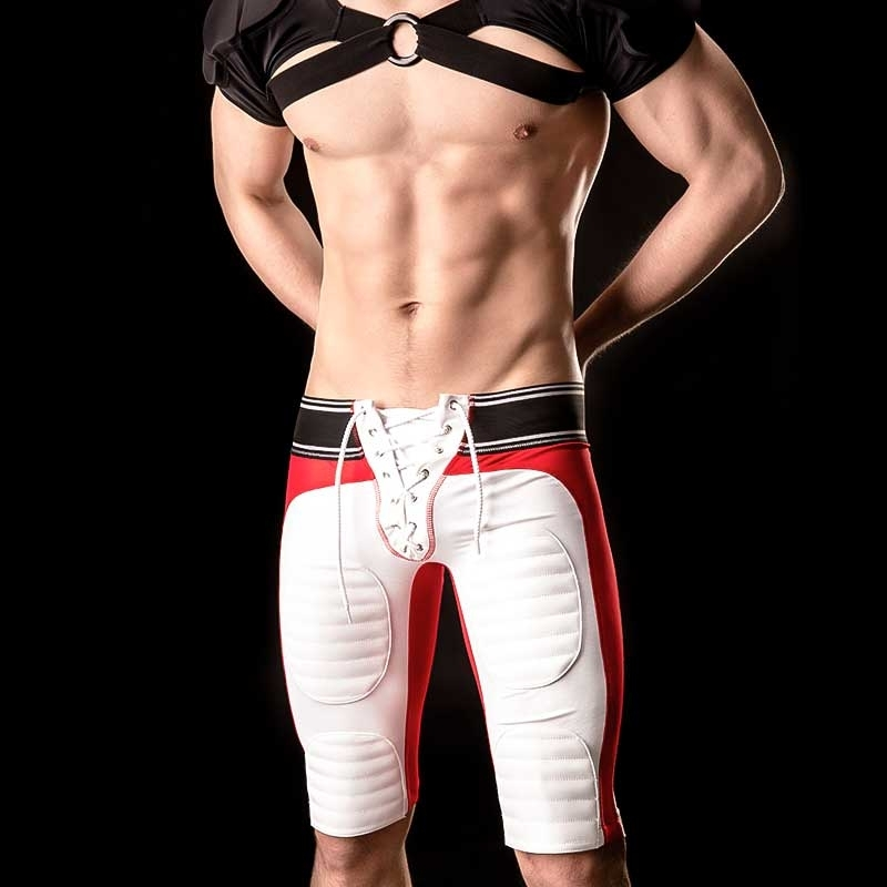 BARCODE Berlin SHORTS Biker Pants YANN gym 90946 American Football rot