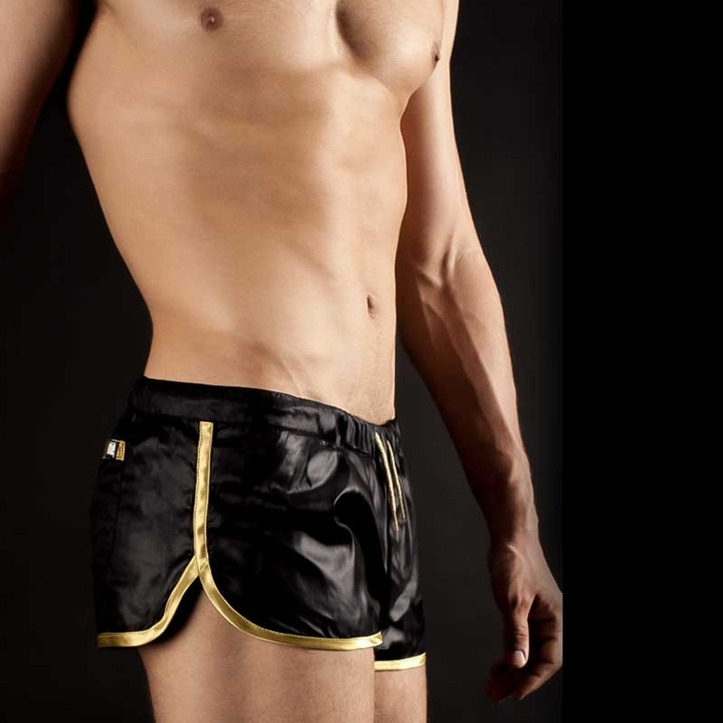 BARCODE Berlin SHORTS gym swim shinie10092 schwarz gold