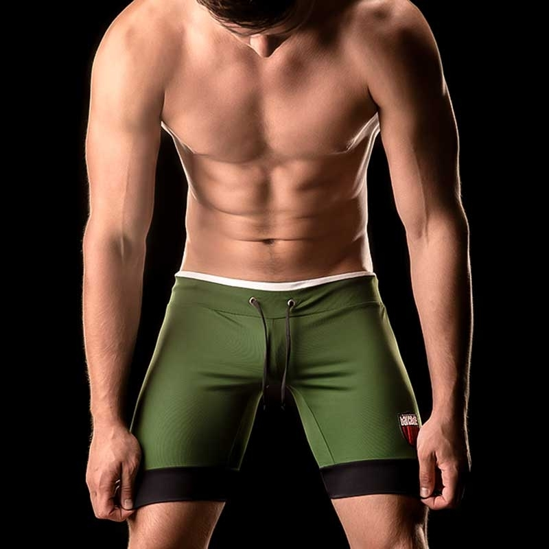 BARCODE Berlin SHORTS fitness MARCOS swim 90836 biker pants green