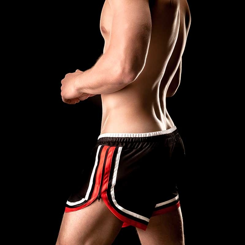 BARCODE Berlin SHORTS athletic ROGERIO basic 90839 black red
