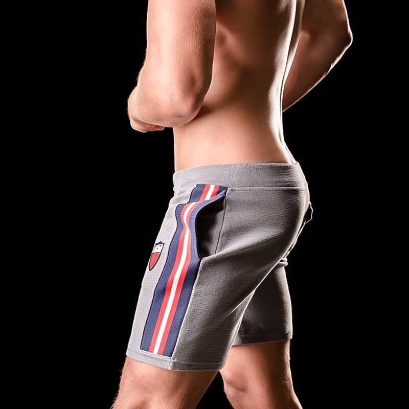 BARCODE Berlin SHORTS weekend PAULINHO 90847 casual line grey